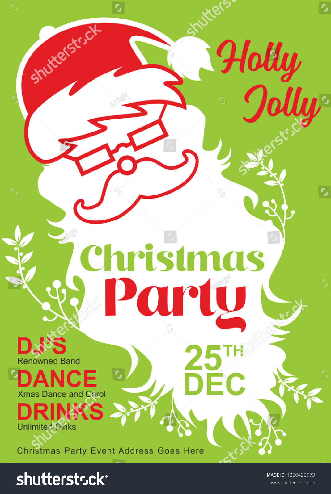 Christmas Party Invite Template Secret Santa Stock Vector Royalty