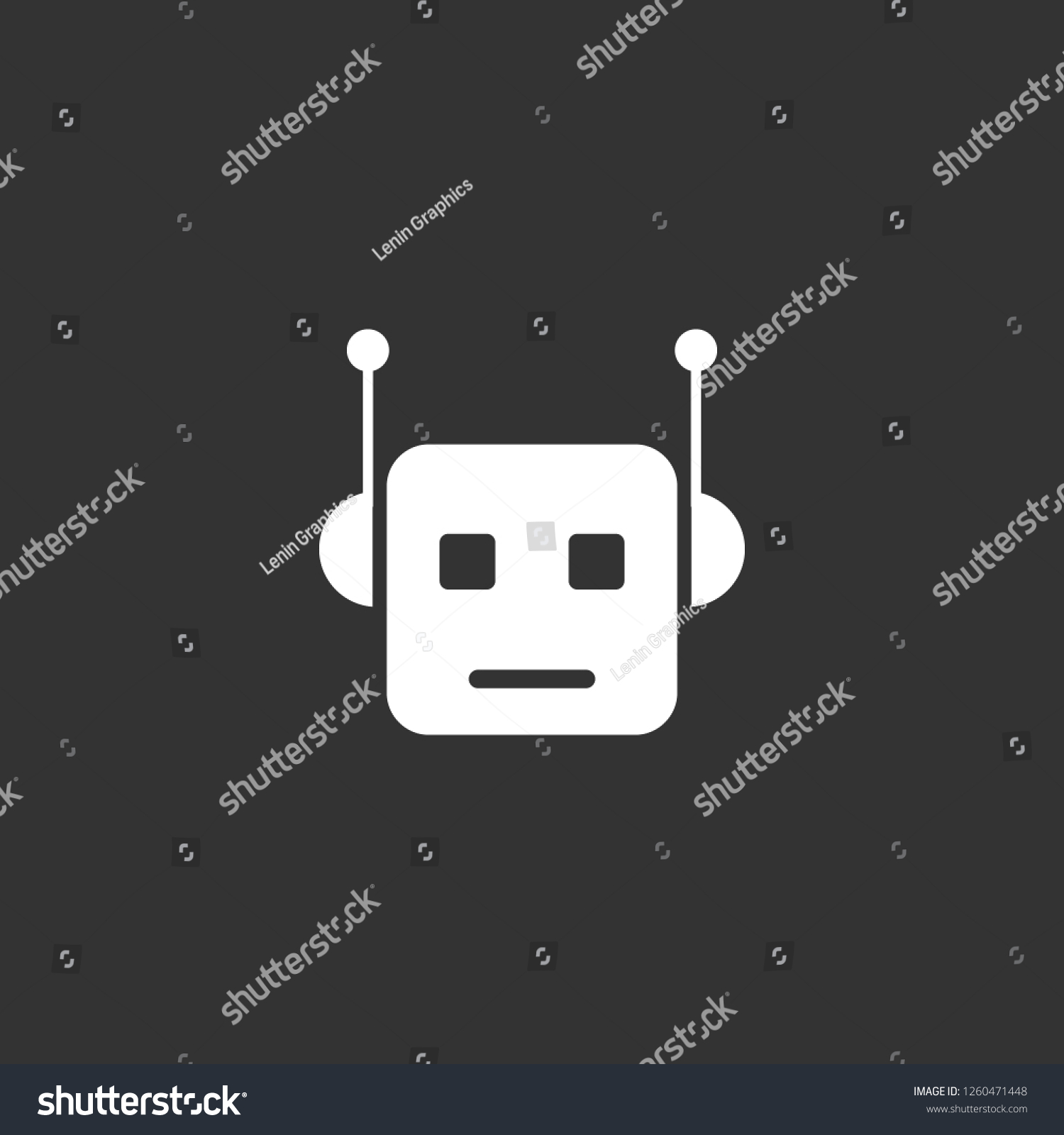 Robot Icon Vector Robot Sign On Stock Vector (Royalty Free