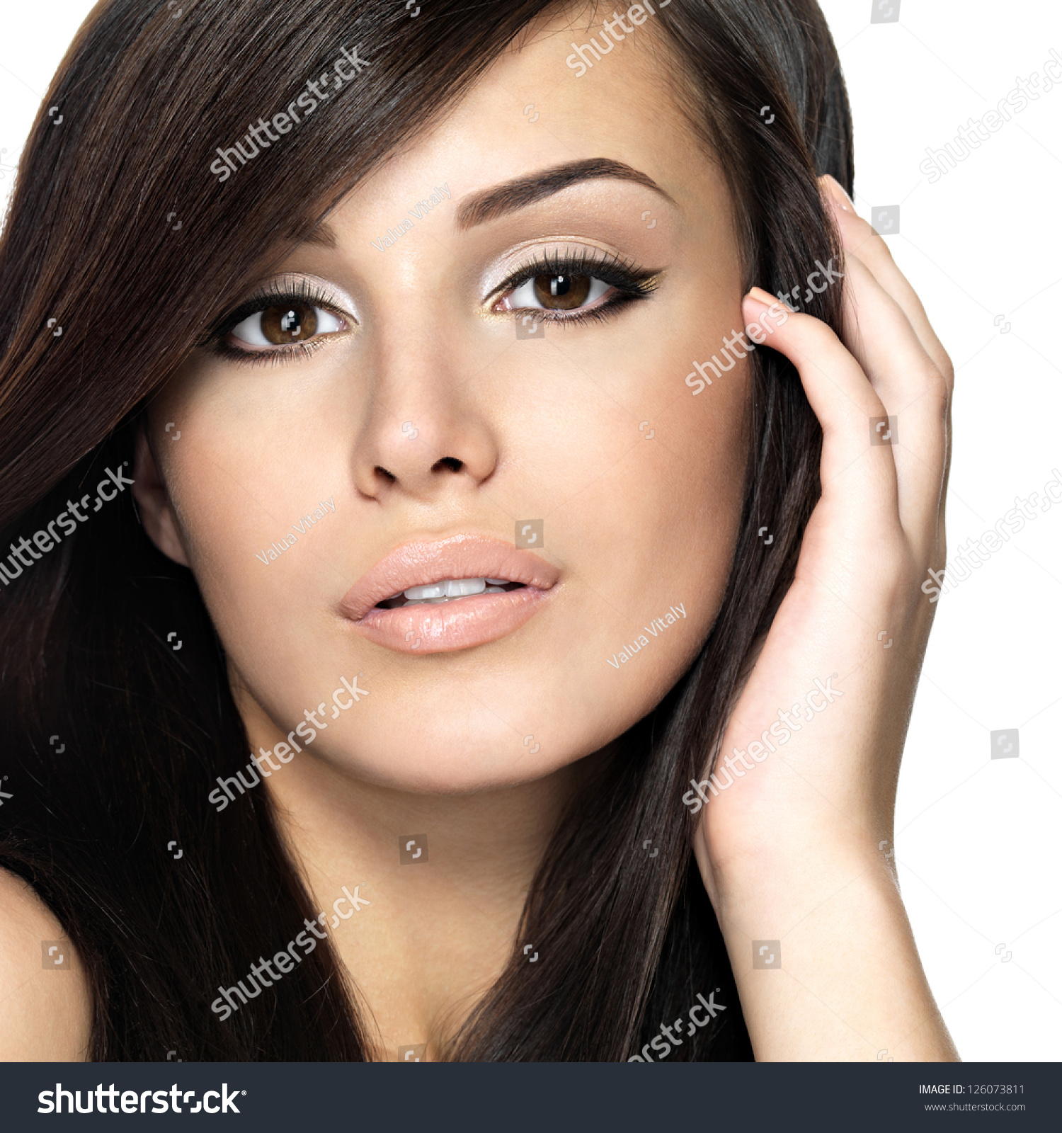 Beautiful Hairstyles For Straight Hair Woman with beauty long straight ...