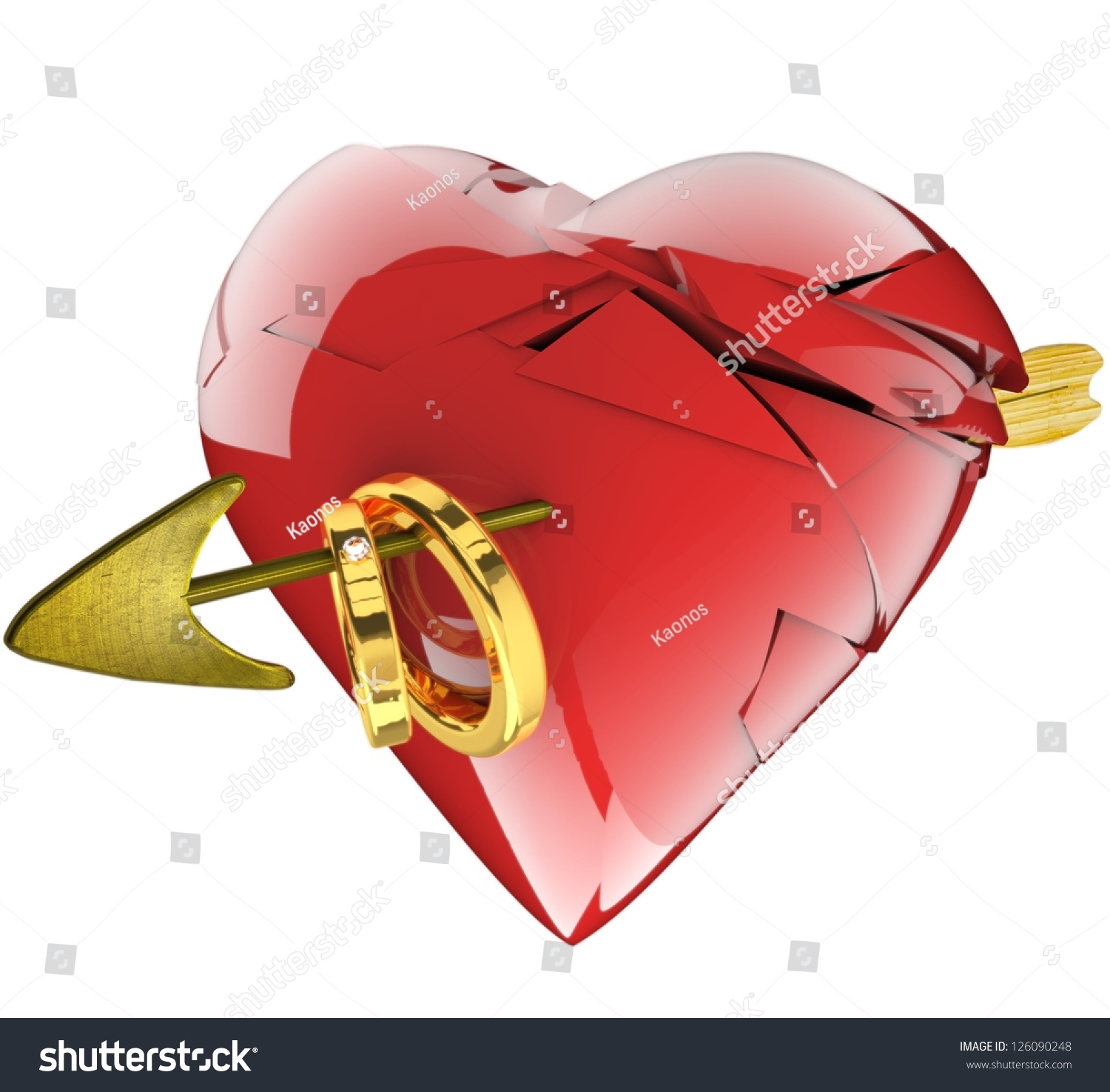 broken rings red photo on andreypopov stock golden heart depositphotos wedding