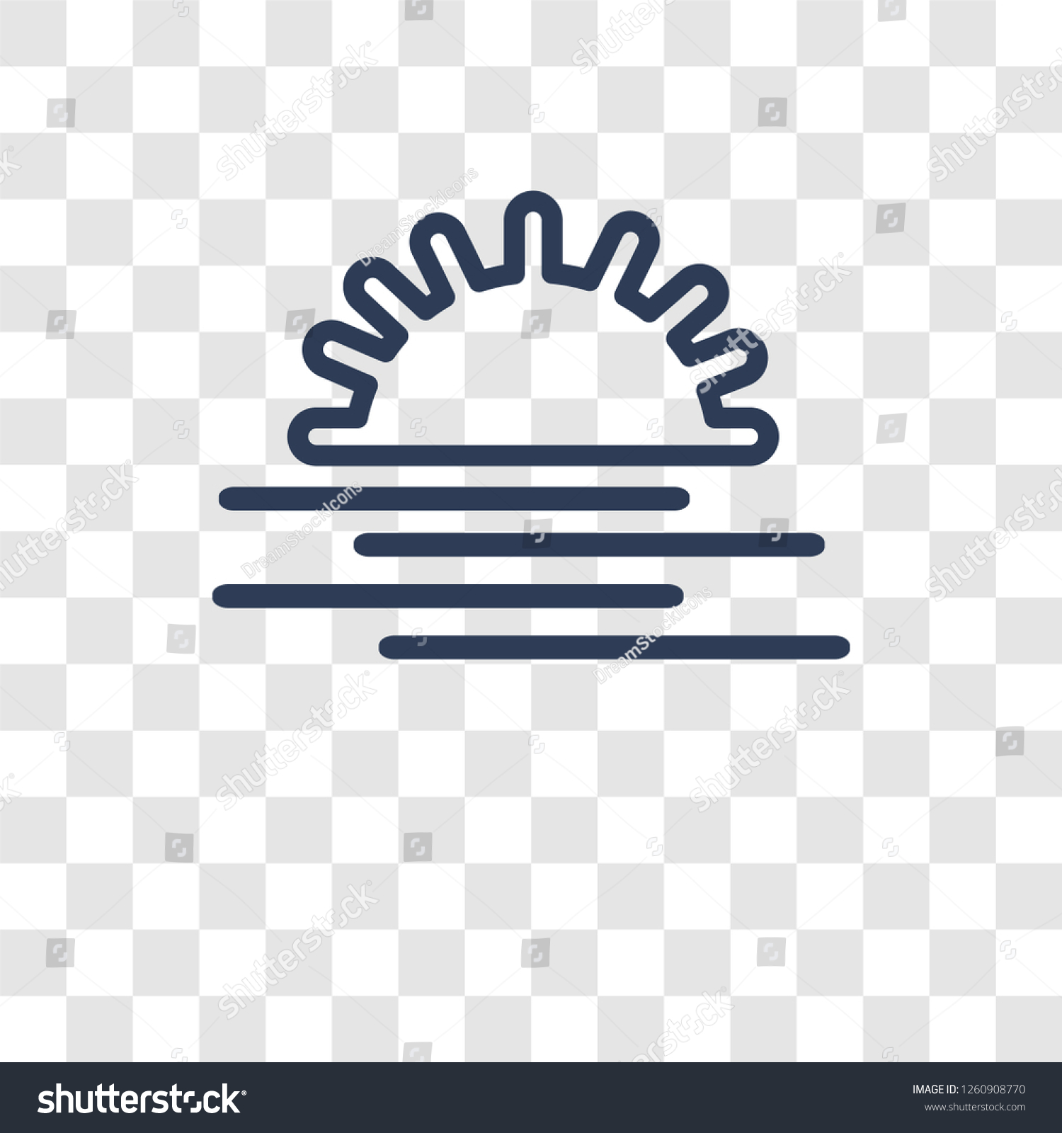 sunset sea icon trendy sunset sea stock vector royalty free 1260908770 shutterstock