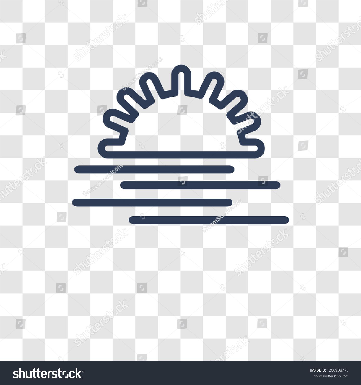 sunset sea icon trendy sunset sea stock vector royalty free 1260908770 shutterstock