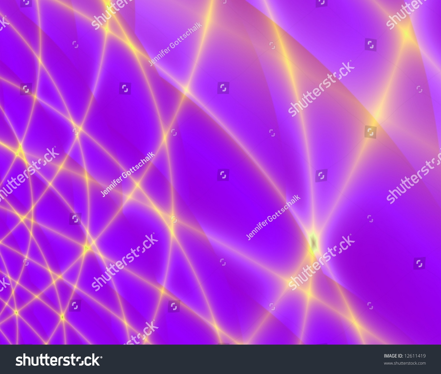 Purple And Gold Woven Strands Of Light (Abstract Background) Stock Photo 12611419 : Shutterstock