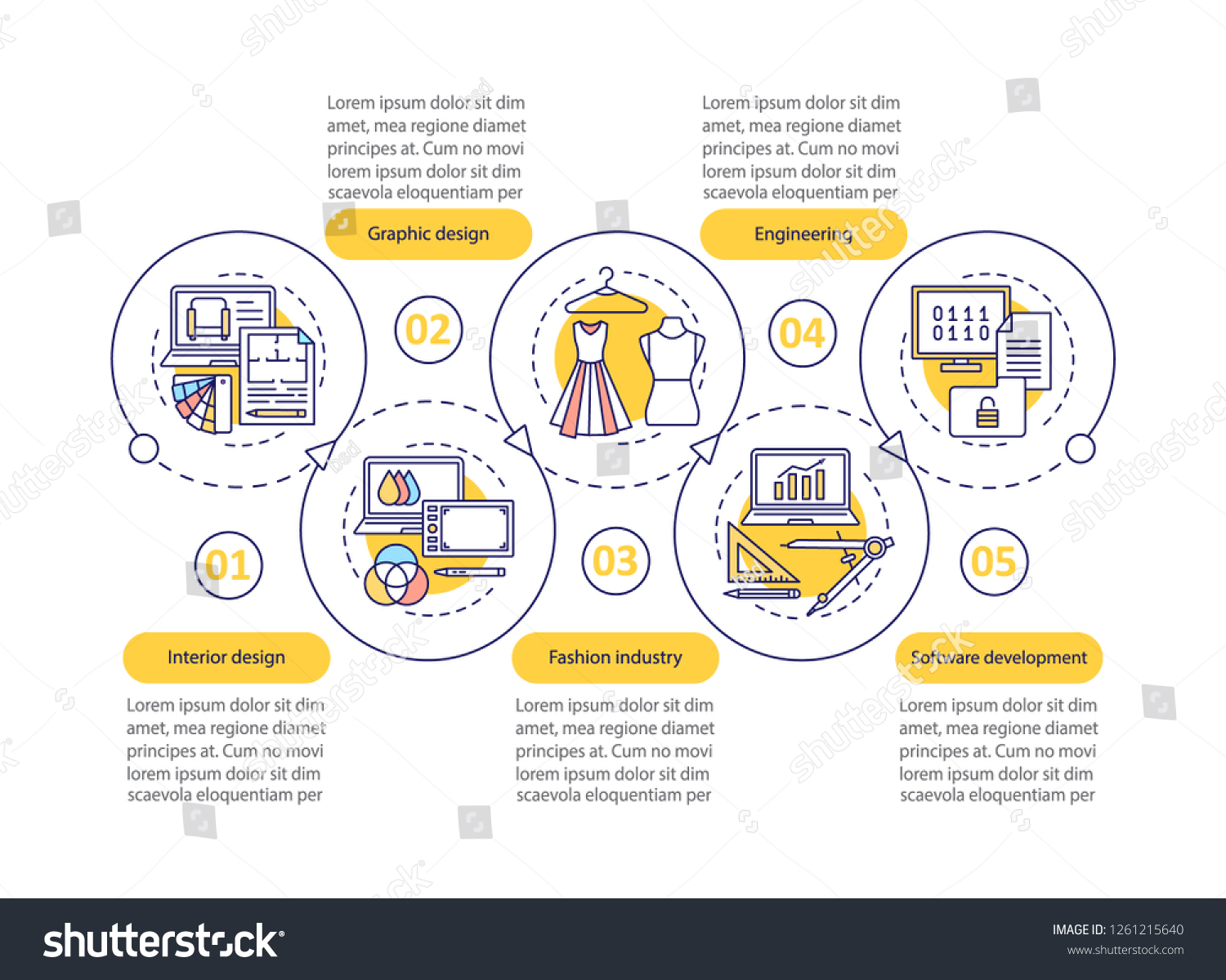 Design Industry Vector Infographic Template Fashion Stock