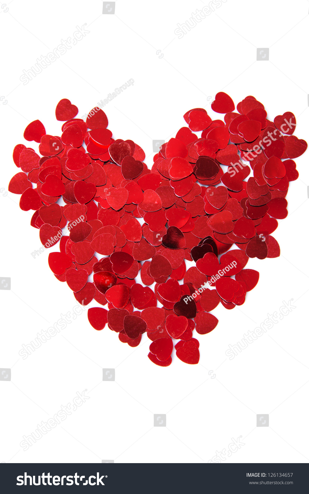 Red heart decoration stock photo shutterstock