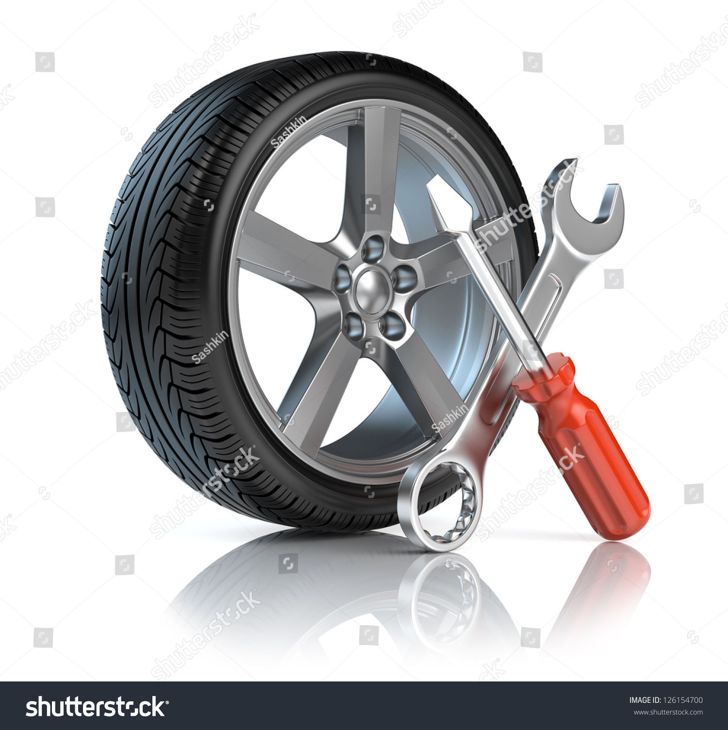 wheel repair stock illustration 126154700 shutterstock. Black Bedroom Furniture Sets. Home Design Ideas