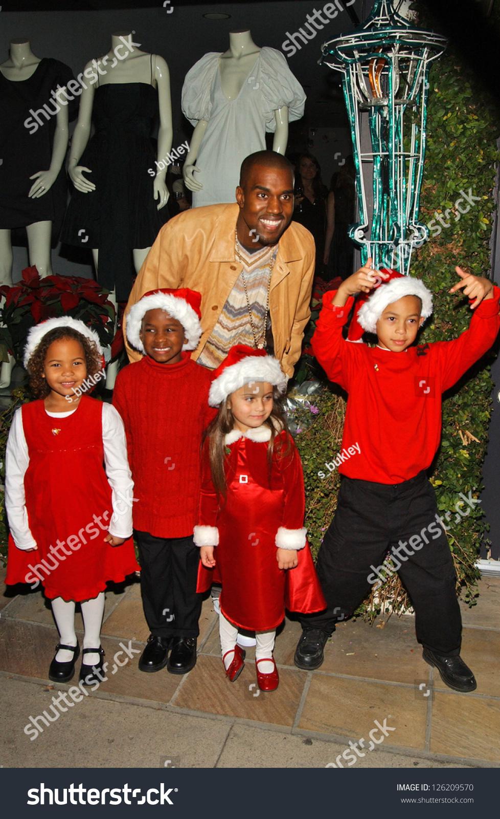 Kanye West Holiday Window Lighting Benefit Stock Photo (Edit Now ...