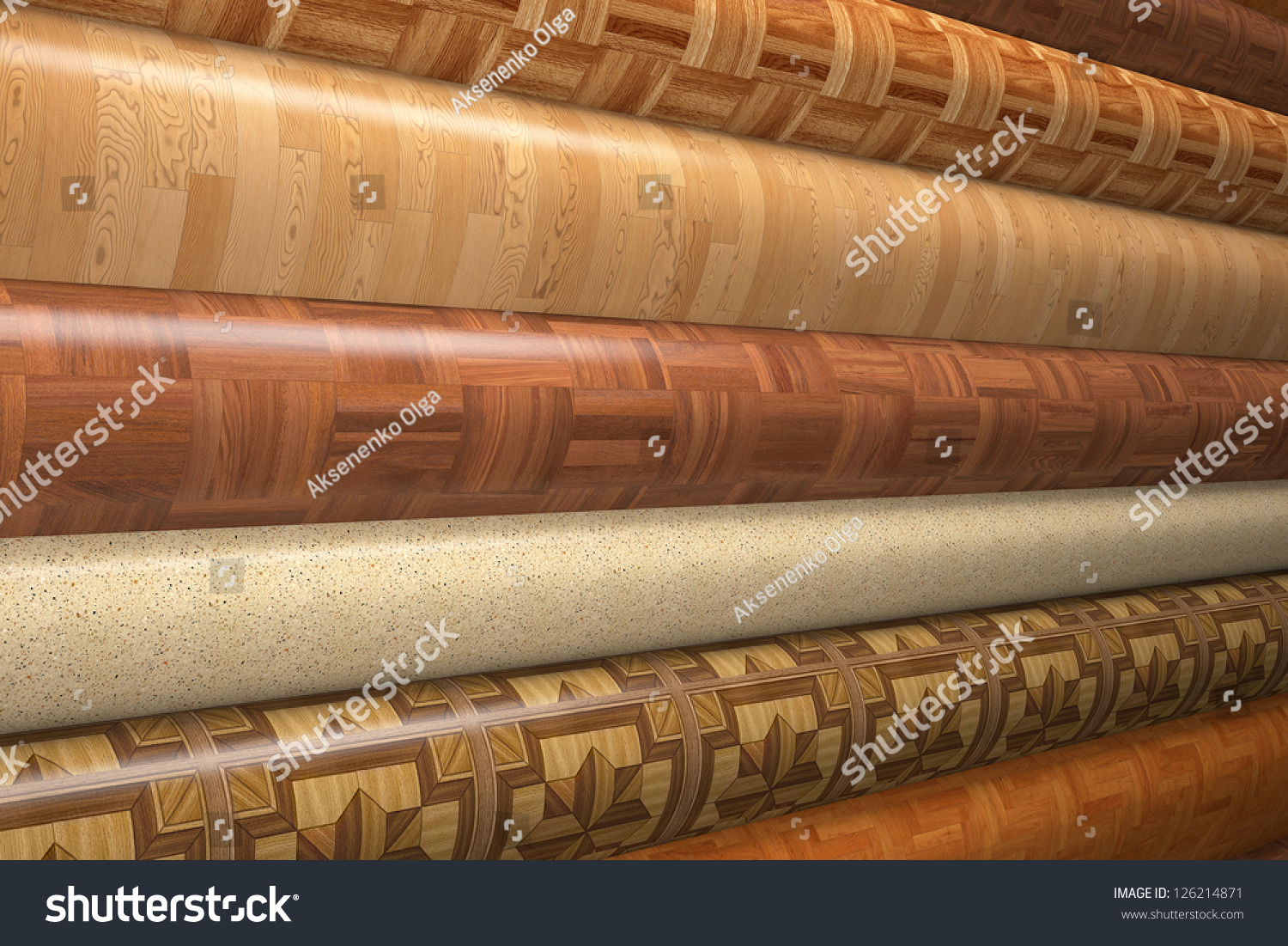 Rolls Linoleum Stock Illustration 126214871 Shutterstock