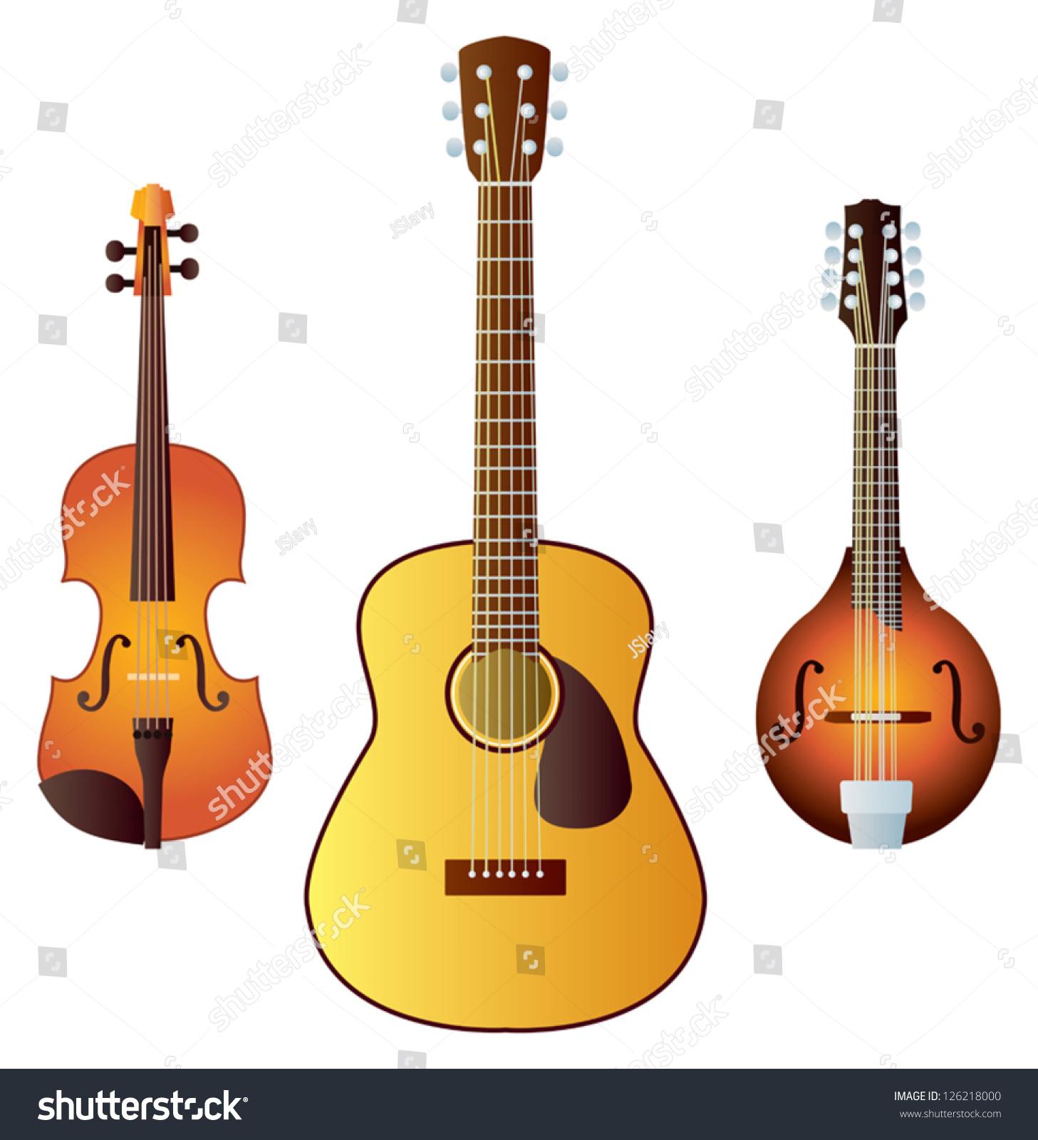 Bluegrass Instruments Clip Art