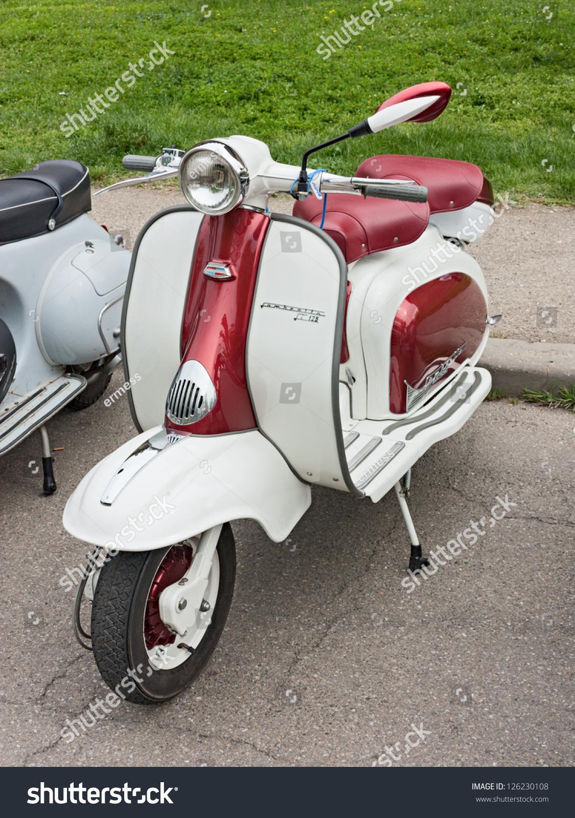 Imola Italy  city images : IMOLA BO ITALY APRIL 29: vintage italian scooter Lambretta at ...