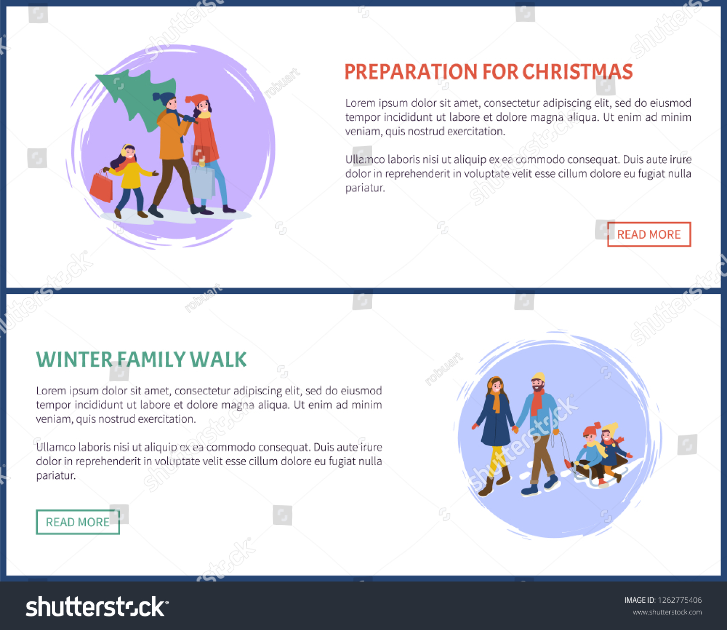 dc9448640 Preparation Christmas Winter Holidays Set Vector Stock Vector ...