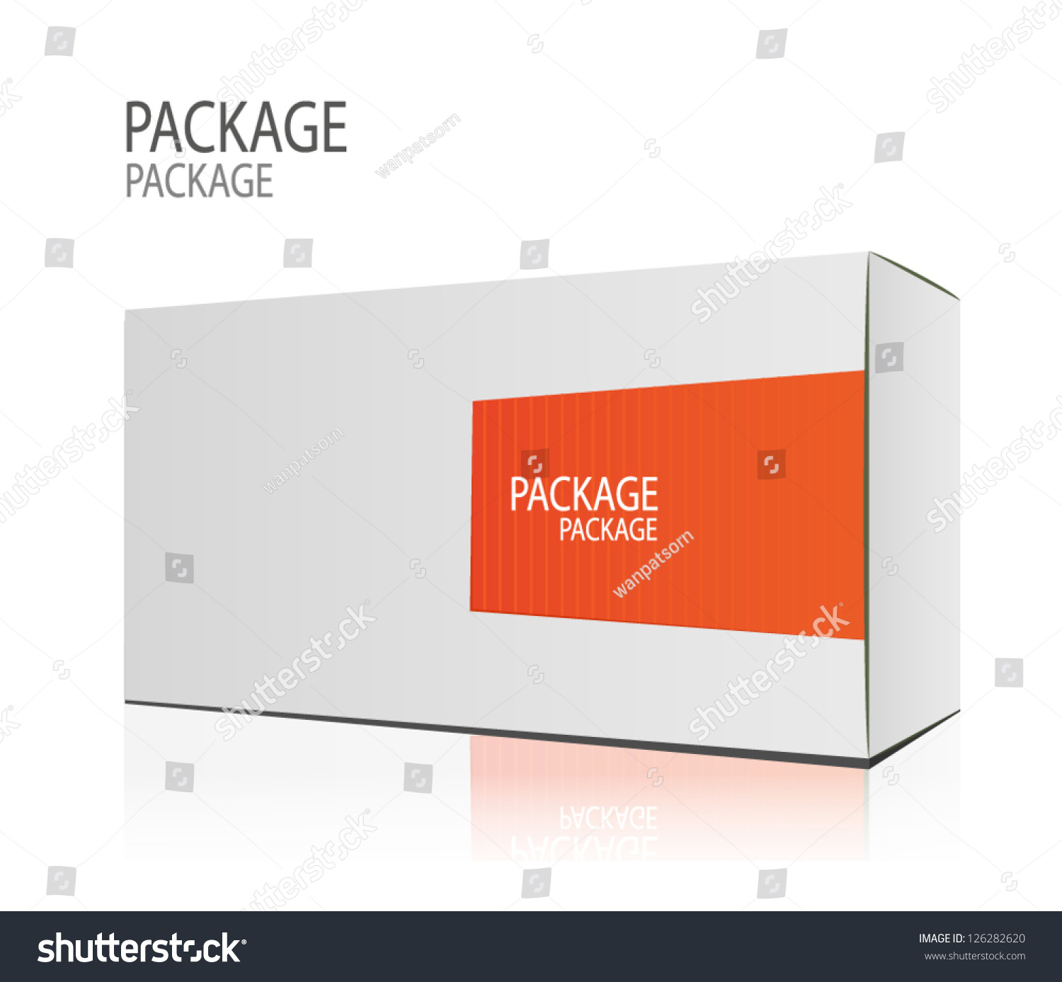 Package White Box Design 2 Vector Stock Vector 126282620 ...