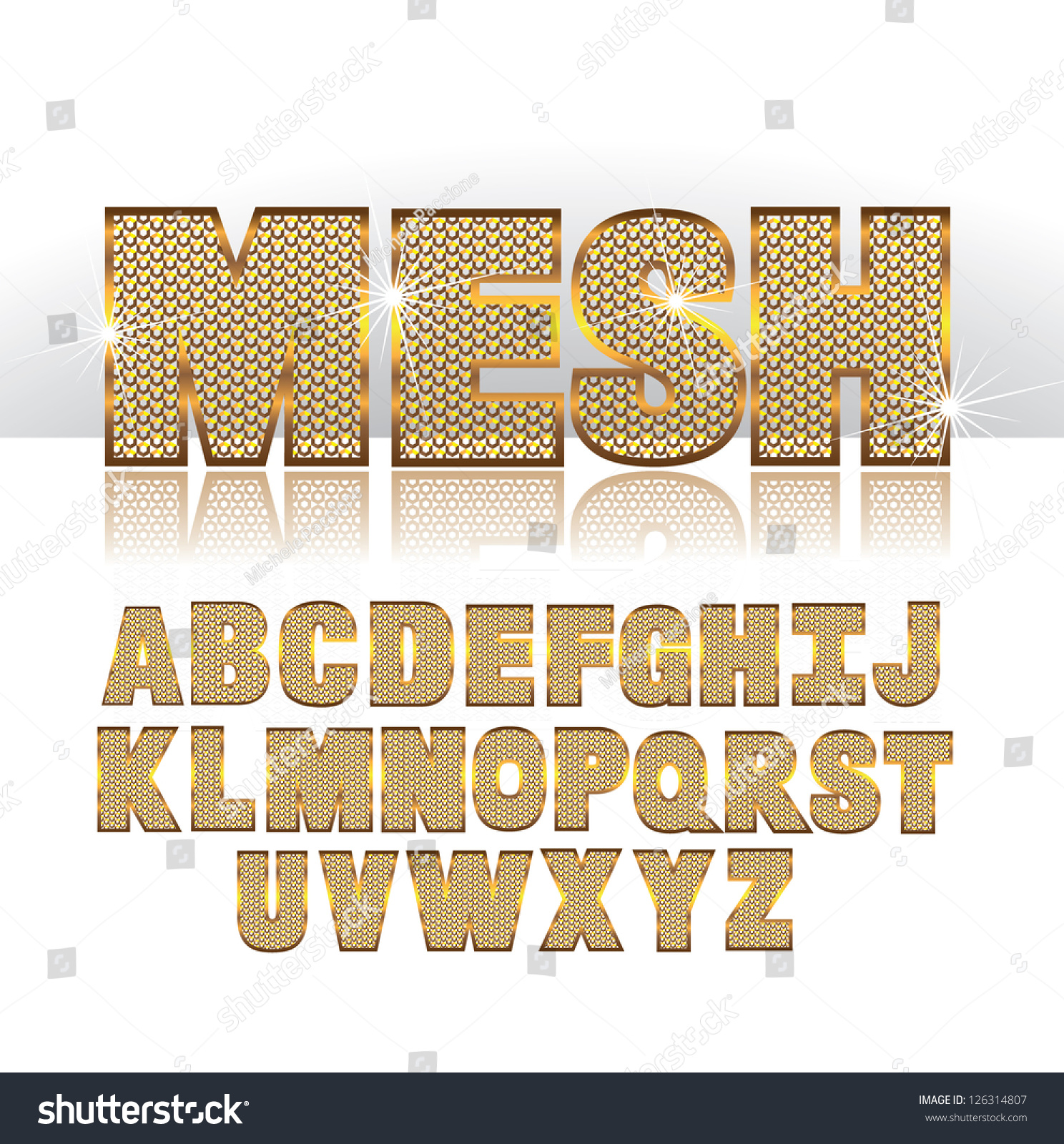 Mesh font alphabet symbol icon letters stock vector 126314807 mesh font alphabet symbol icon letters a through z eps 8 vector no open shapes or biocorpaavc Image collections