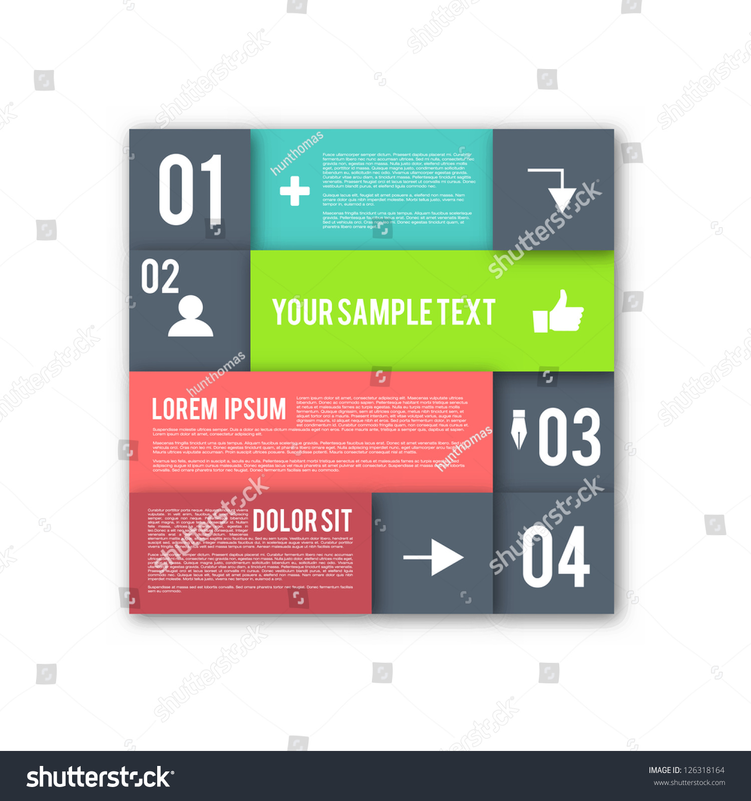 Modern Design Layout Infographic Elements Eps10 Stock
