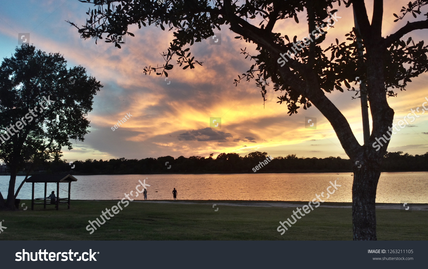 stock-photo-sunset-over-armand-bayou-in-