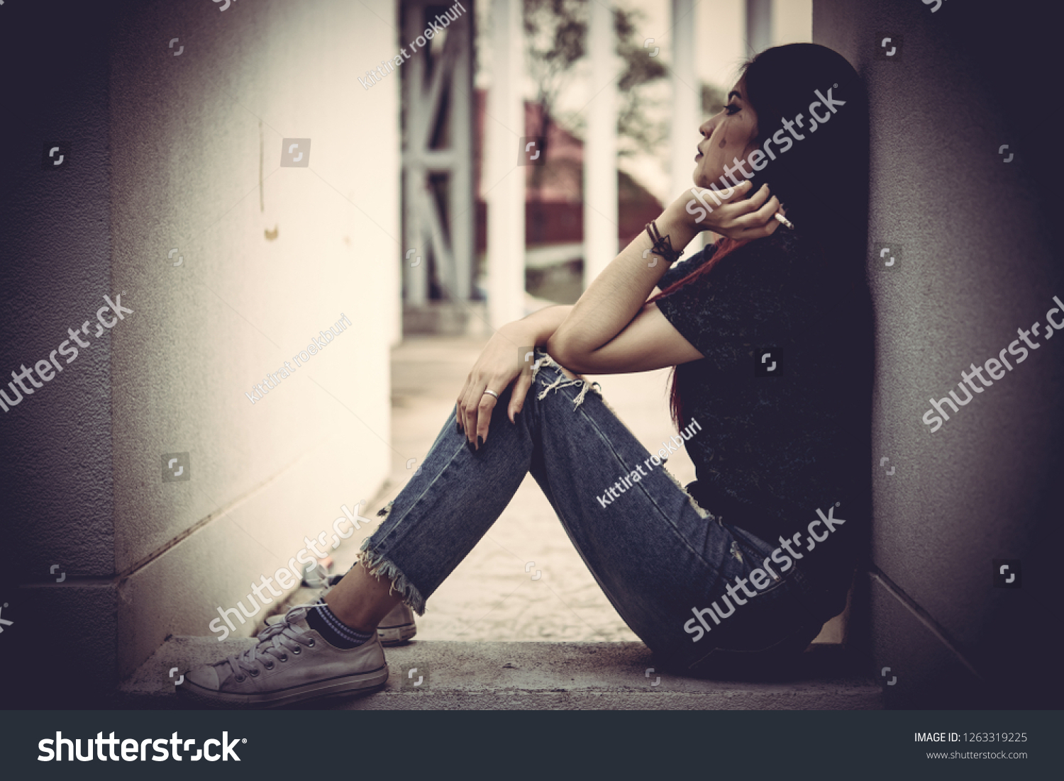 Asian Women Drug Addicts Inject Heroin Stock Photo (Edit Now) 1263319225