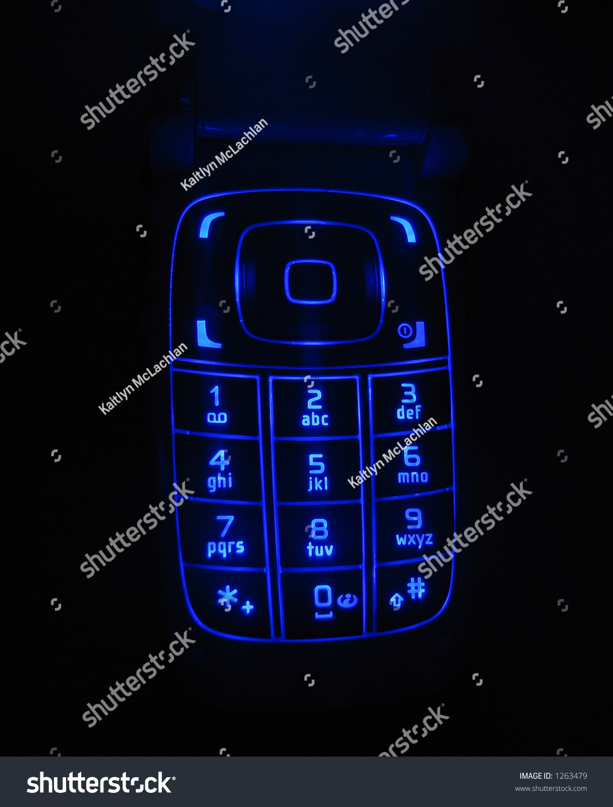 Glowing Keypad Nokia Cell Phone Stock Photo Edit Now 1263479 Of A