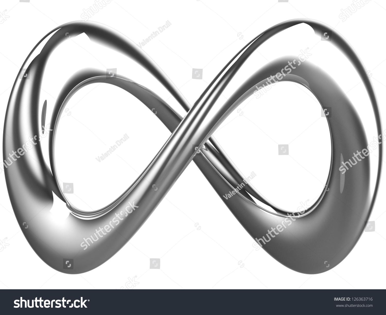 Silver Infinity Symbol Stock Illustration 126363716 Shutterstock