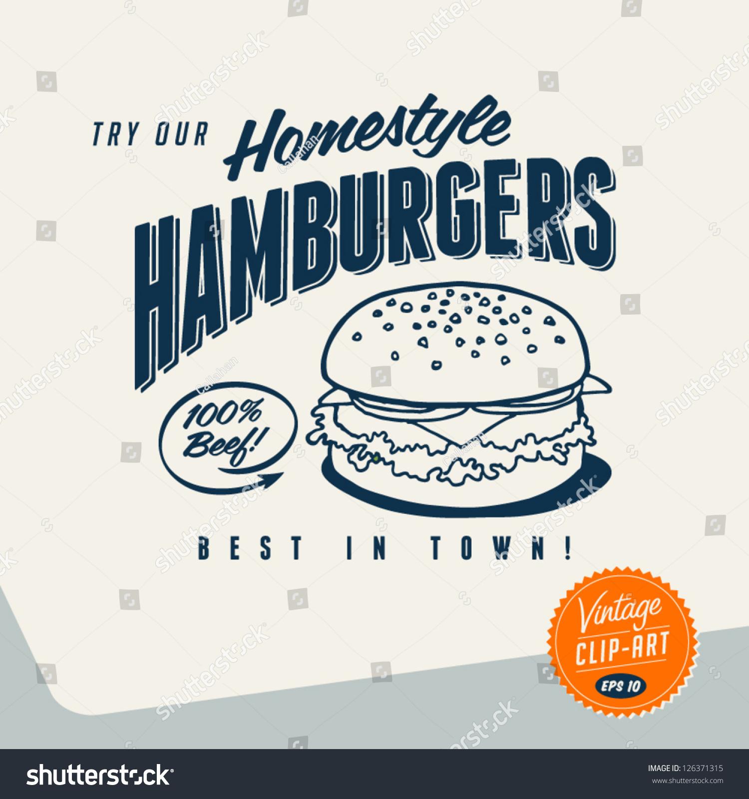 Delicious Hamburger Clip Art