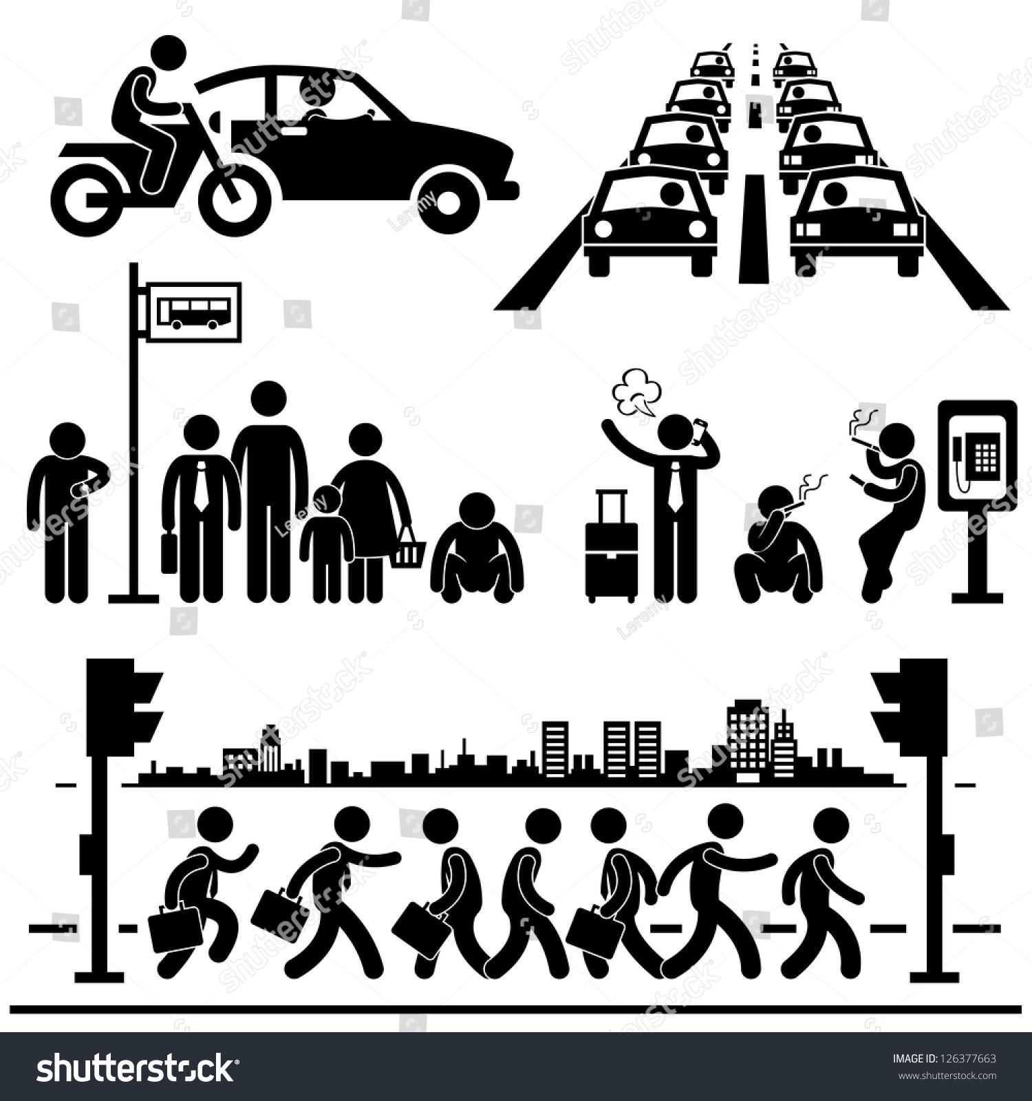 Urban City Life Metropolitan Hectic Street Traffic Busy