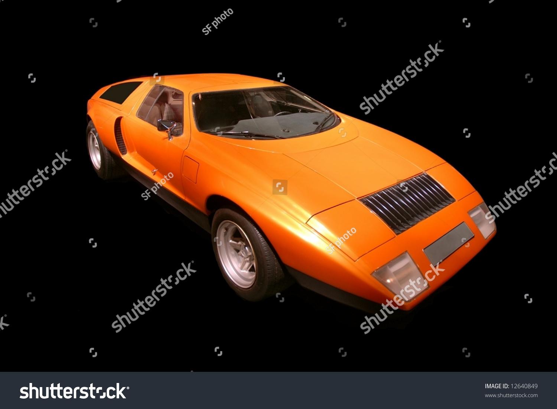 Orange 1970 c111 mercedes benz stock photo 12640849 for Mercedes benz orange