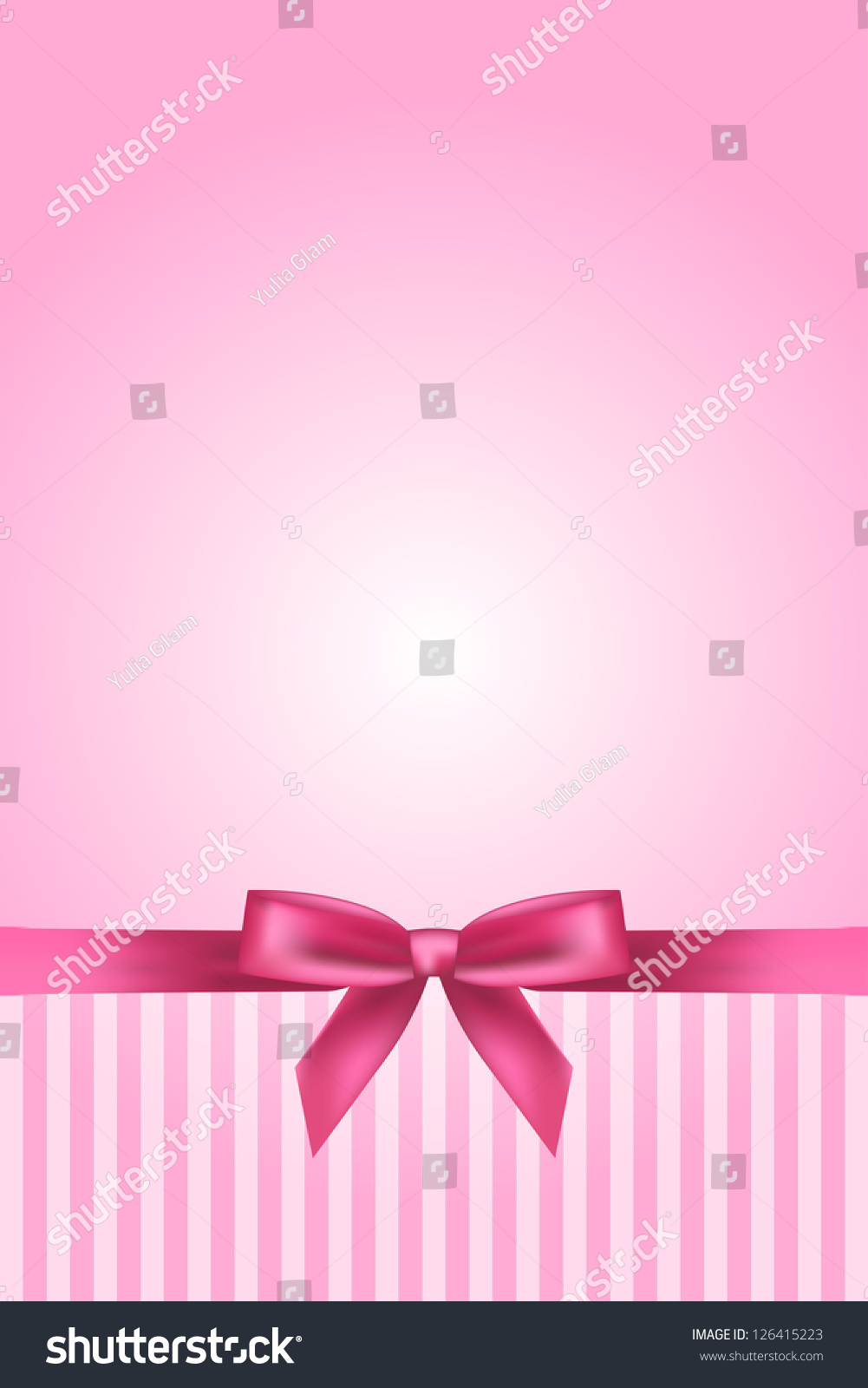 vector pink background bow stock vector 126415223
