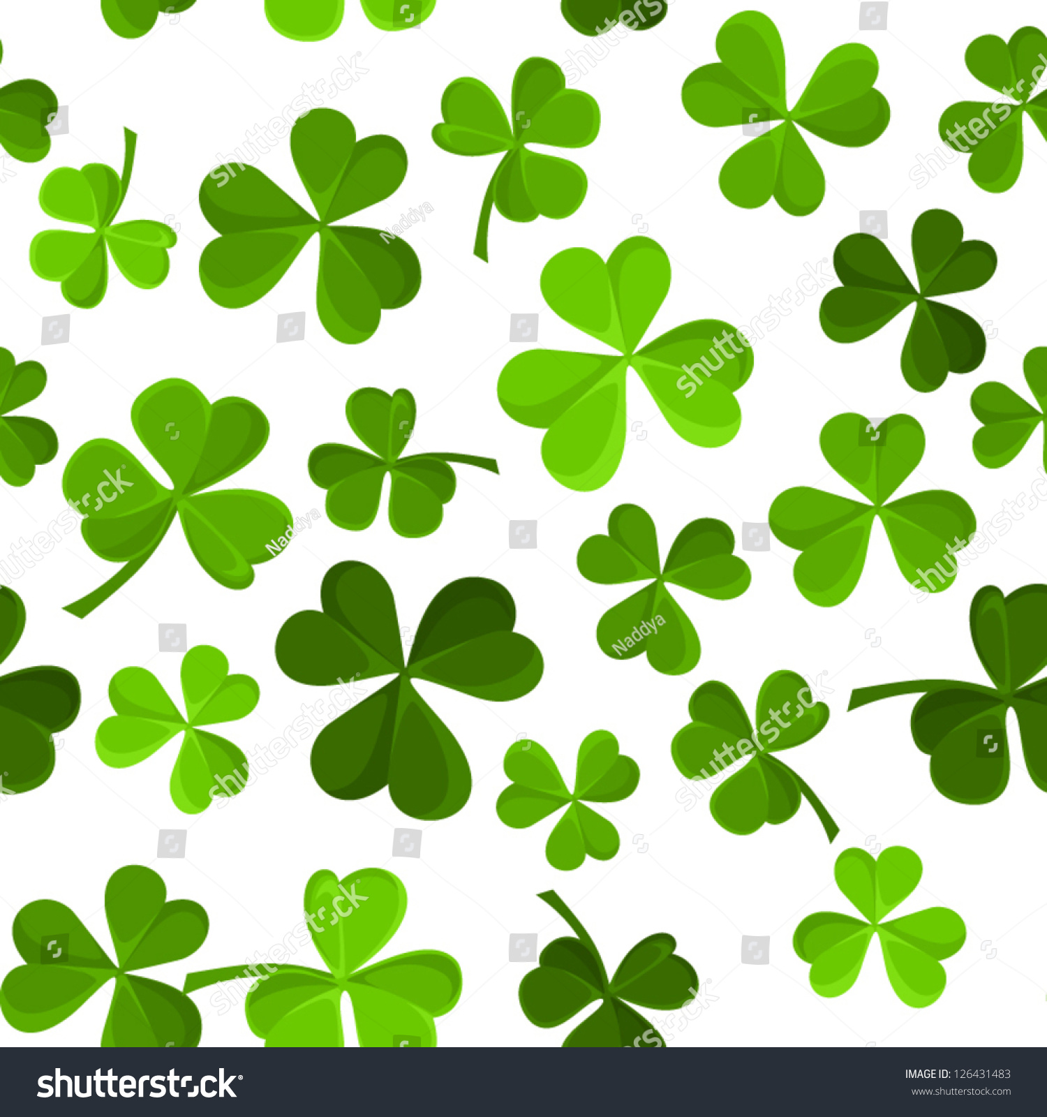 st patricks day vector seamless background stock vector 126431483