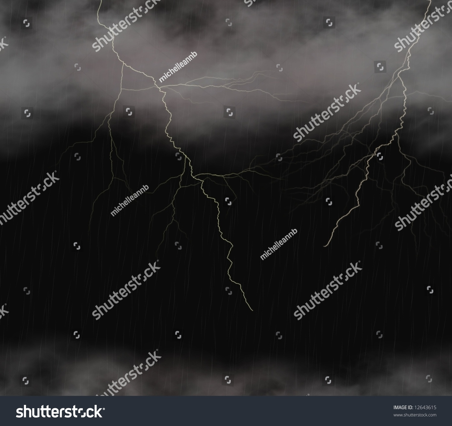 Lightning Storm Background Or Wallpaper