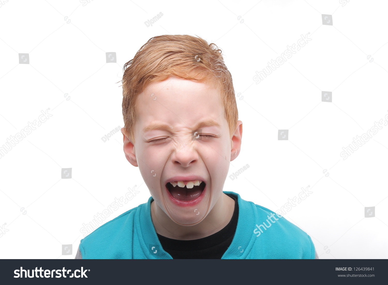cute boy screaming stock photo royalty free 126439841 shutterstock