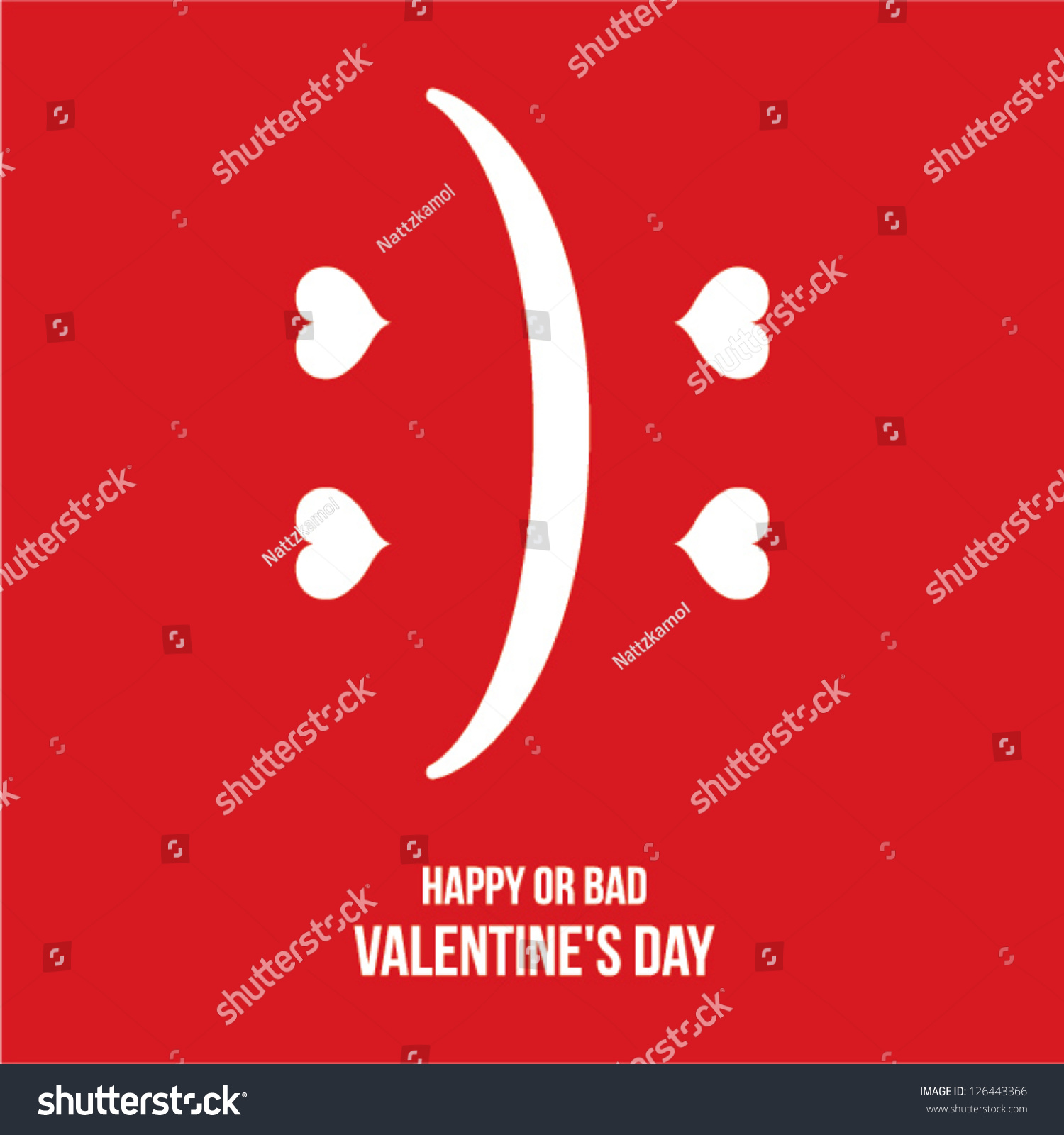 Happy Or Bad Valentineu0027s Day Cards, Poster, Background. (vector)