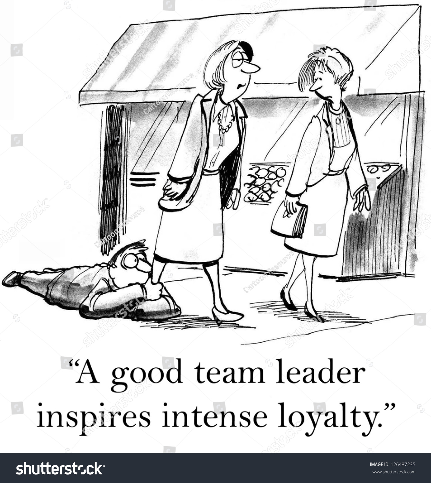a good team leader inspires intense loyalty stock photo save to a lightbox