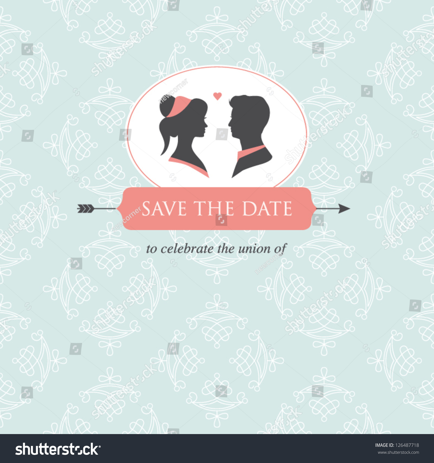 wedding invitation card template editable wedding stock vector 126487718 shutterstock. Black Bedroom Furniture Sets. Home Design Ideas