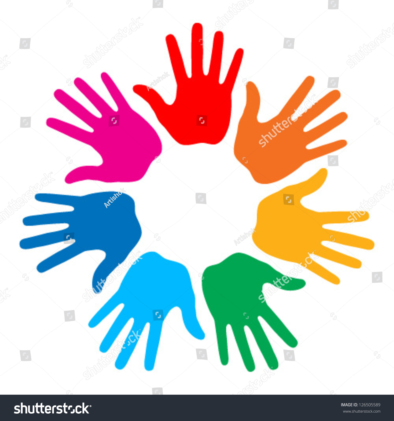 Colorful Wall Stickers Handprint Logo Www Imgkid Com The Image Kid Has It