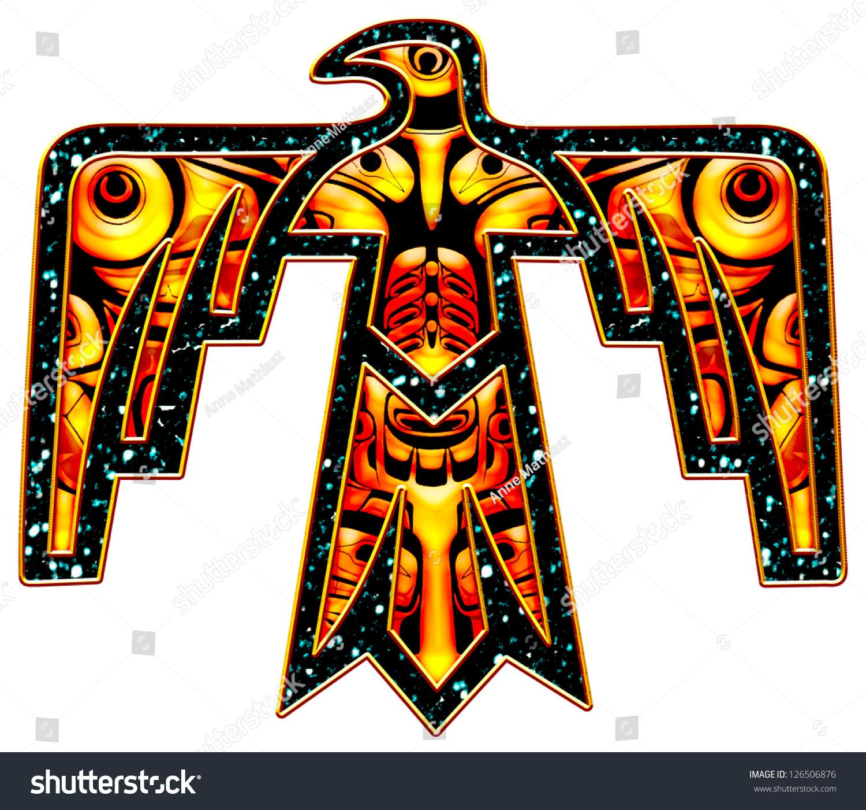 Thunderbird Native American Indian Symbol Stock Illustration