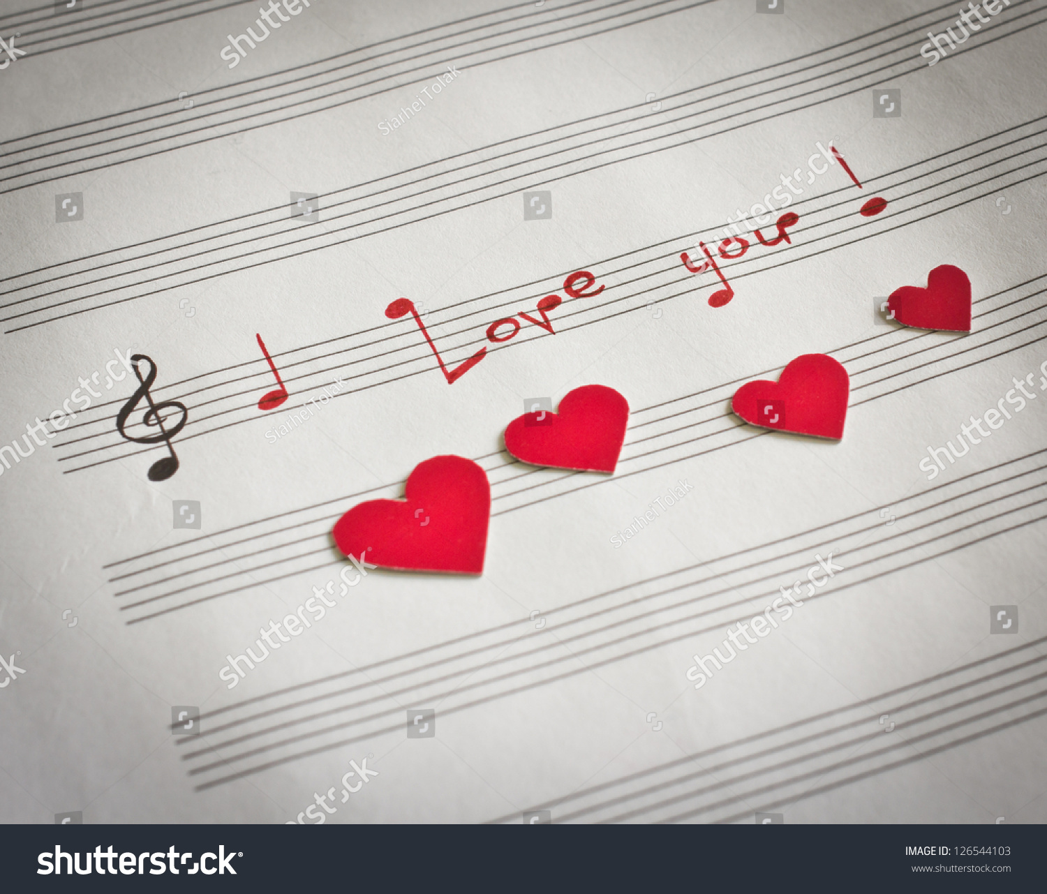 words i love you shape music stock photo 126544103 shutterstock