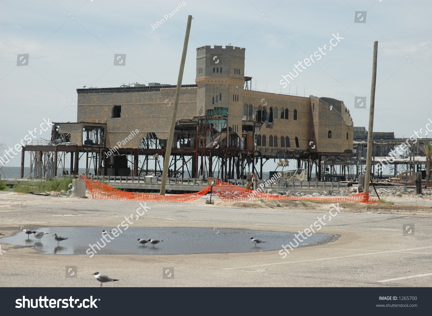 Casino Destroyed Biloxi Mississippi By Hurricane Nature Stock