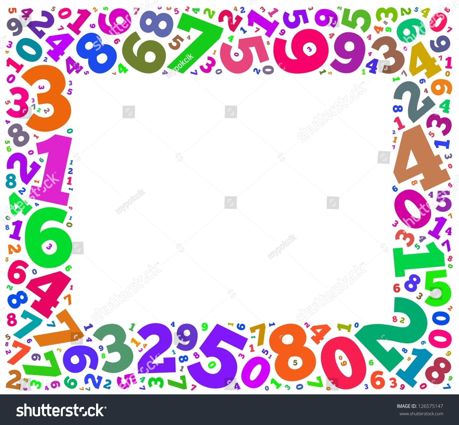 Elementary Art Show Poster Colorful Numbers Frame...