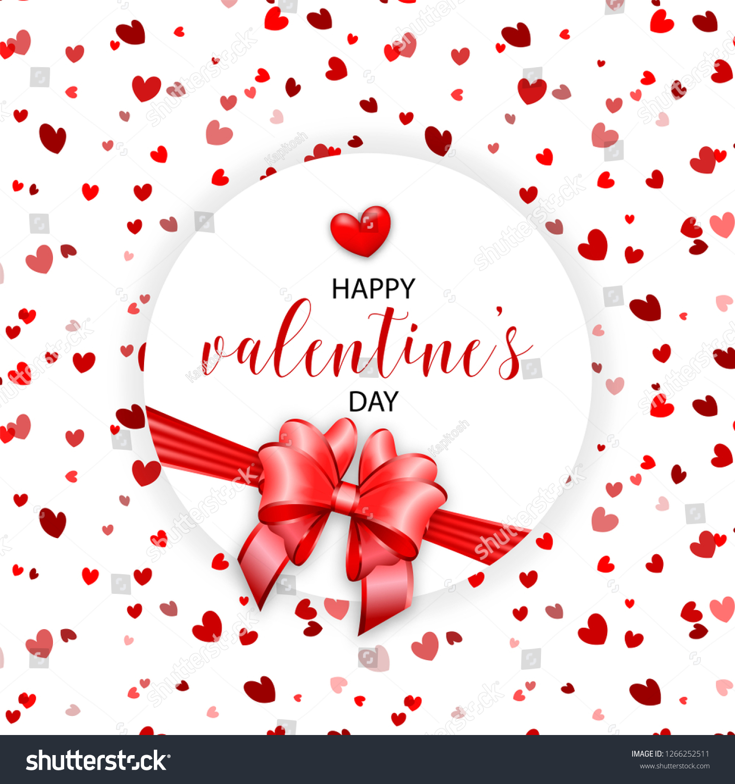 Round Gift Box Top View Valentines Stock Illustration Royalty Free