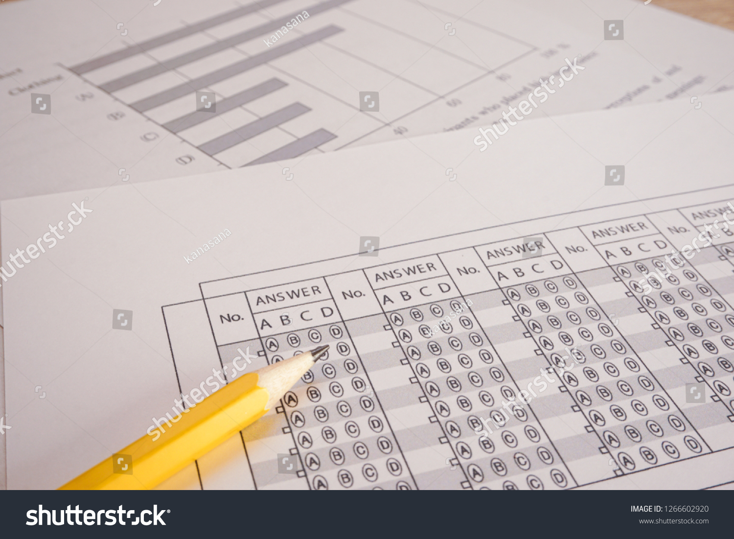 Test Question Paper Answer Sheet Stock Photo (Edit Now