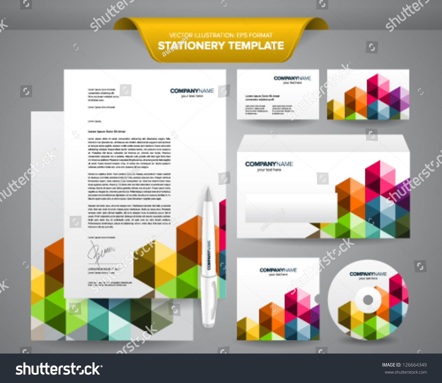 Complete set business stationery template such stock vector hd complete set of business stationery template such as letterhead envelope business card etc spiritdancerdesigns Image collections