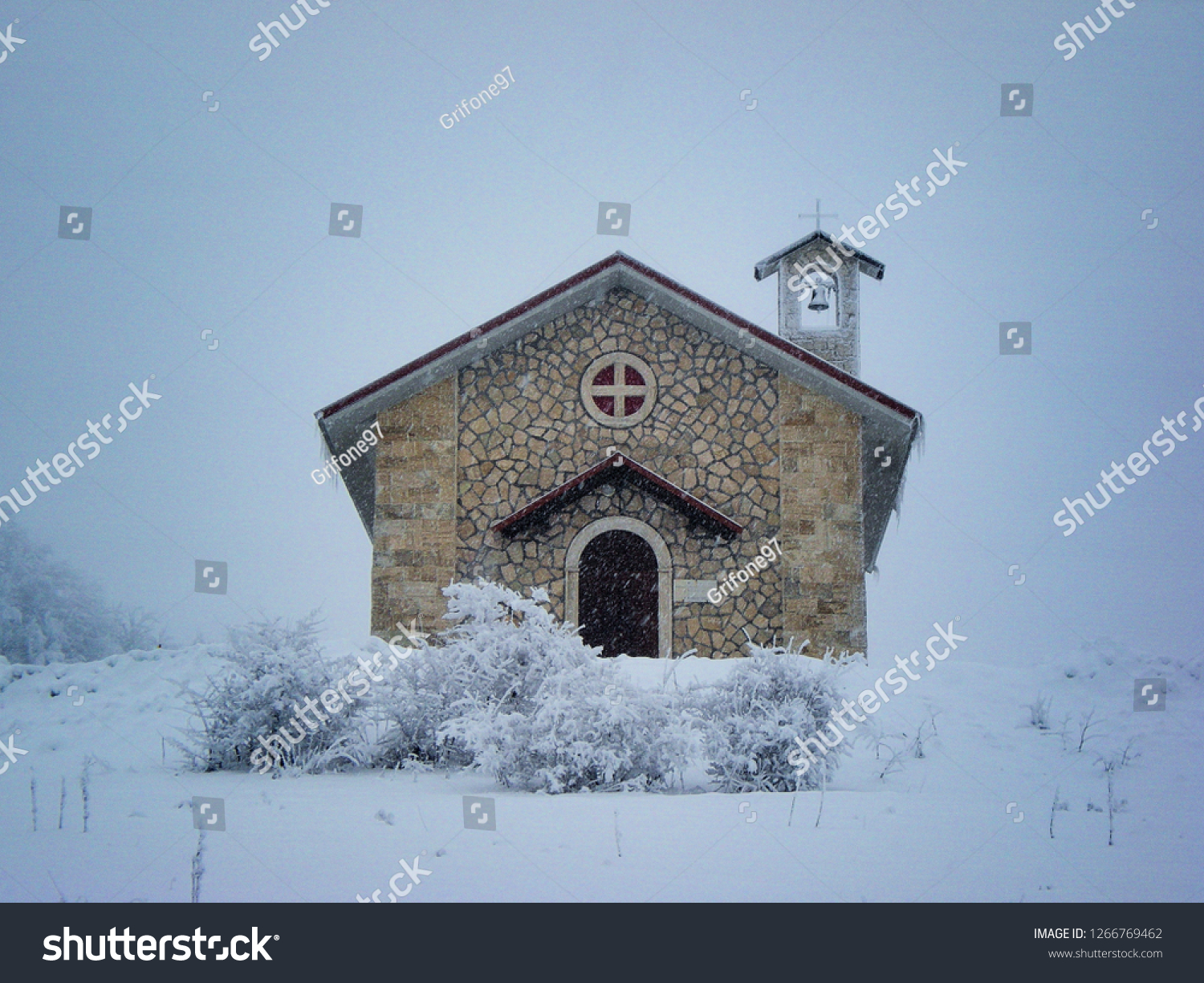 A Church in the snow; Forca Canapine, Marche. (The picture was made before the earthquake of 2016).