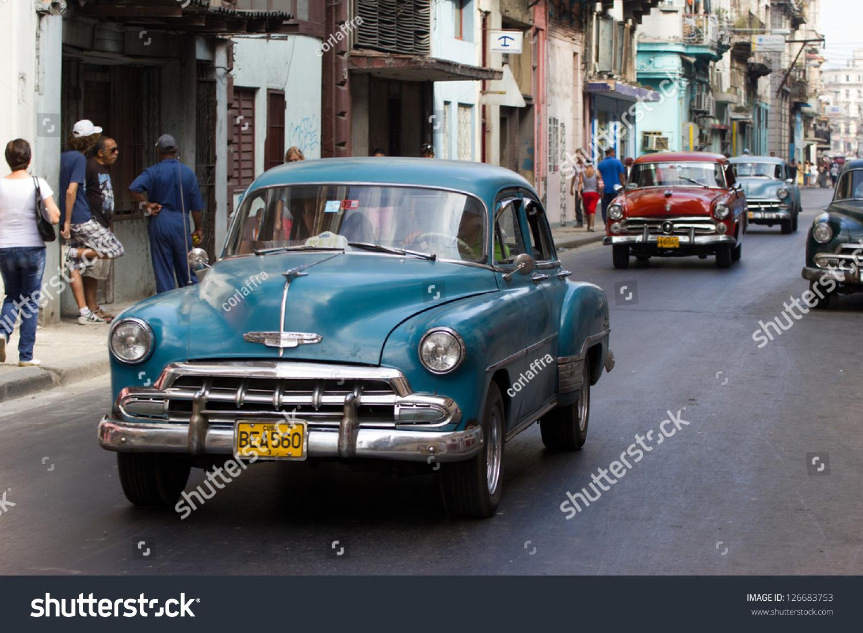 Havana December 13 Classic Chevrolet Cars Stock Photo 126683753 ...