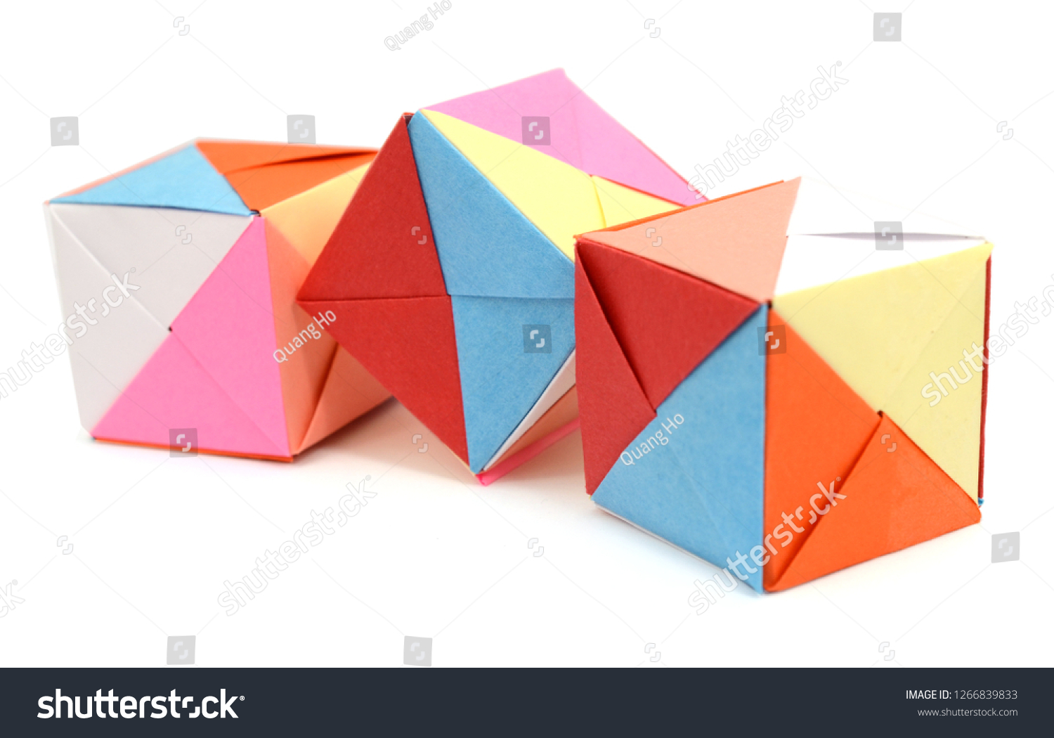 How to Make an Origami Cube Using 6 Pieces of Paper : 25 Steps ... | 1050x1500