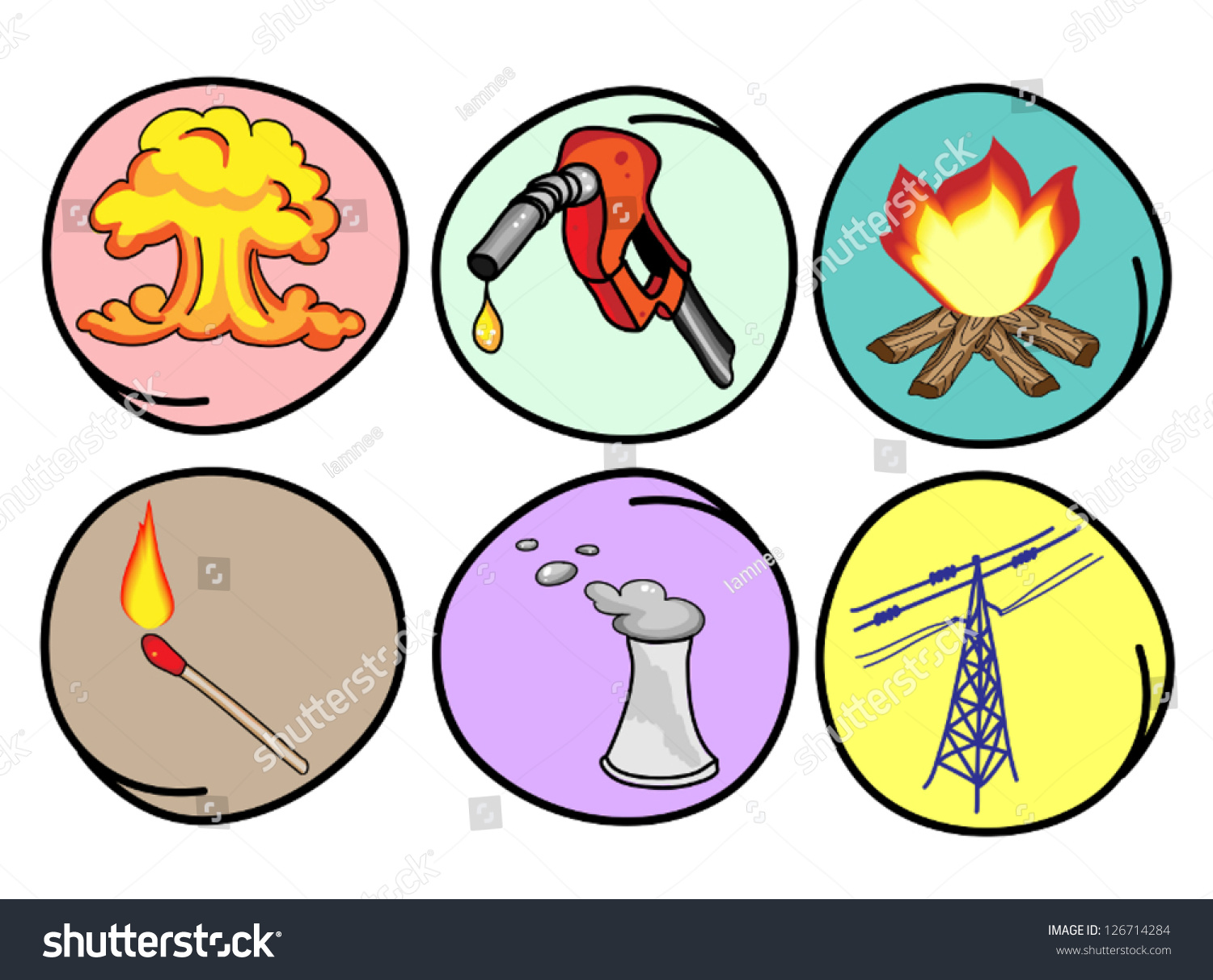 cartoon illustration different types energy heat stock fire station clipart fire station clip art black and white