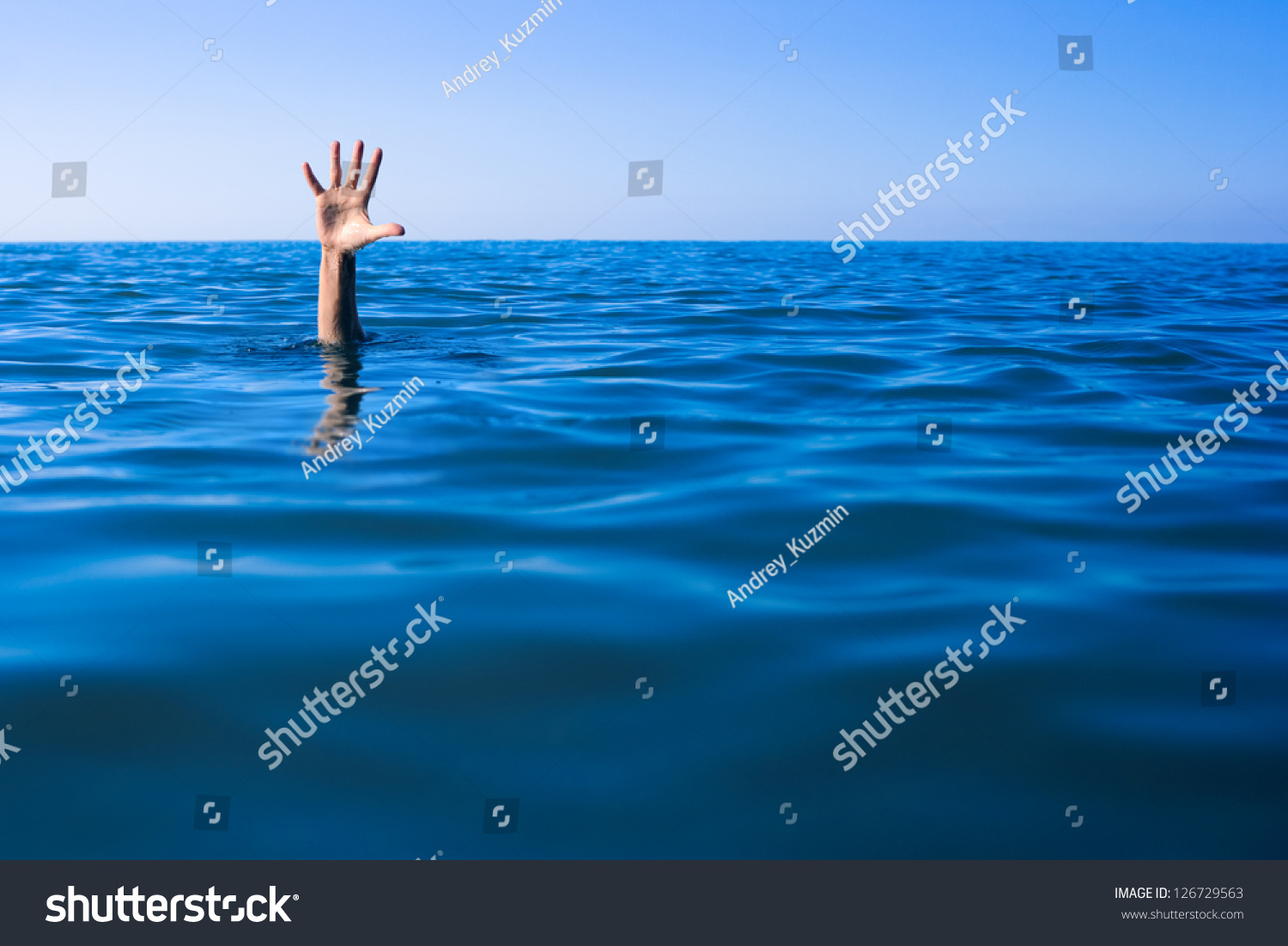 Person Drowning In Ocean