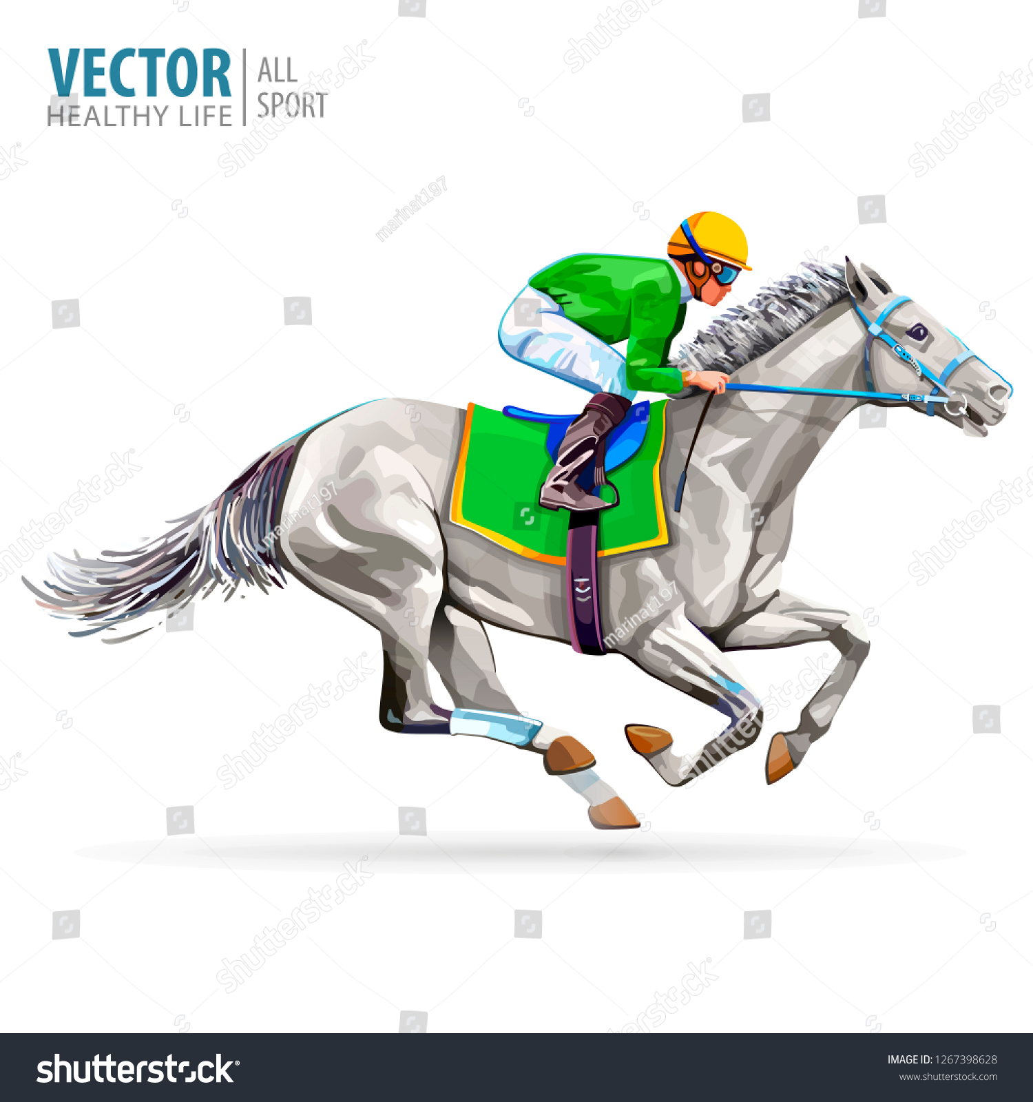 Jockey on racing horse champion hippodrome racetrack jump racetrack horse riding