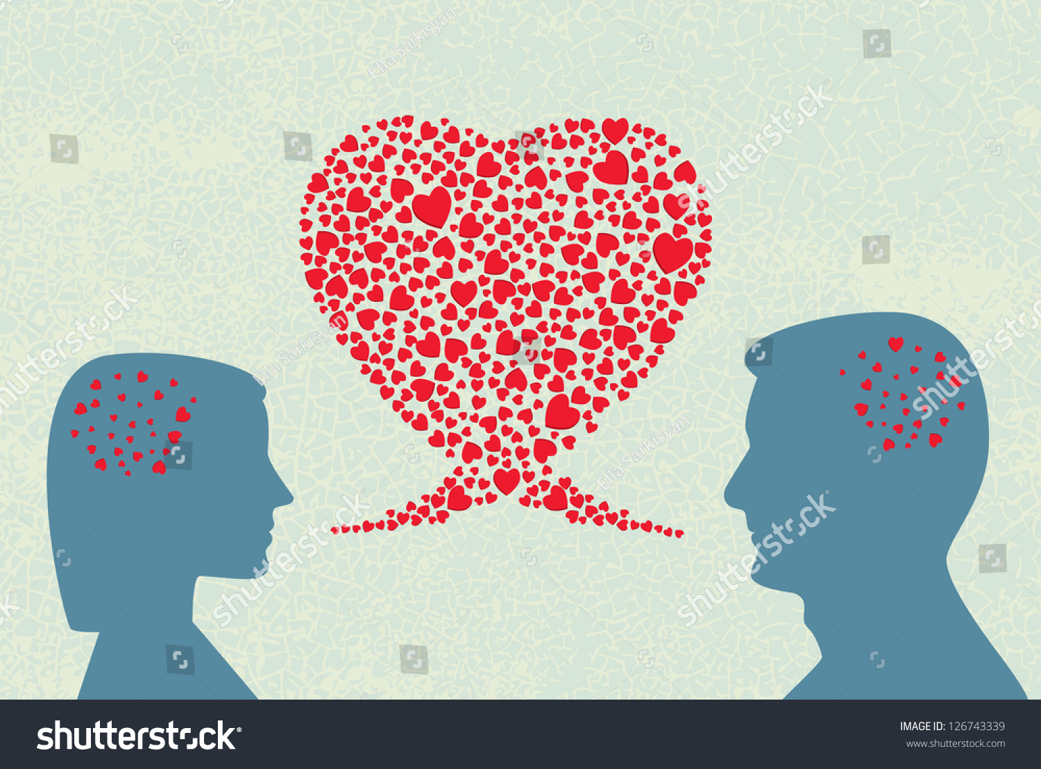 Stock Vector Love Dialogue Vector