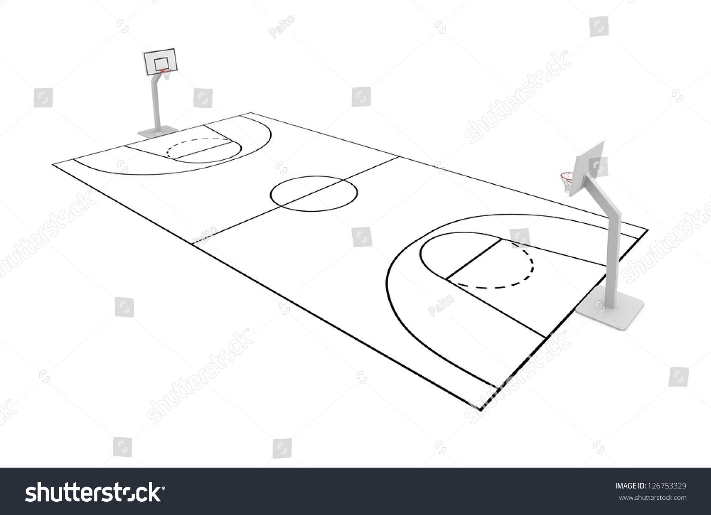 basketball court stock illustration 126753329 shutterstock
