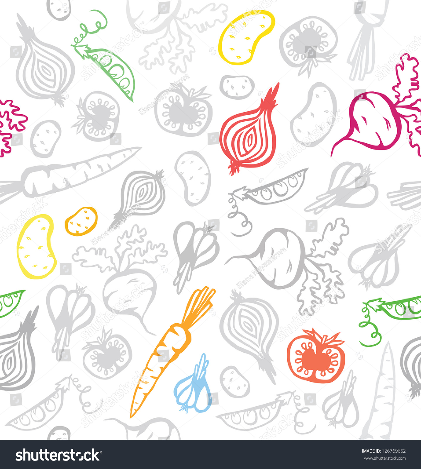 Seamless Pretty Vegetable Background Stock Vector ...