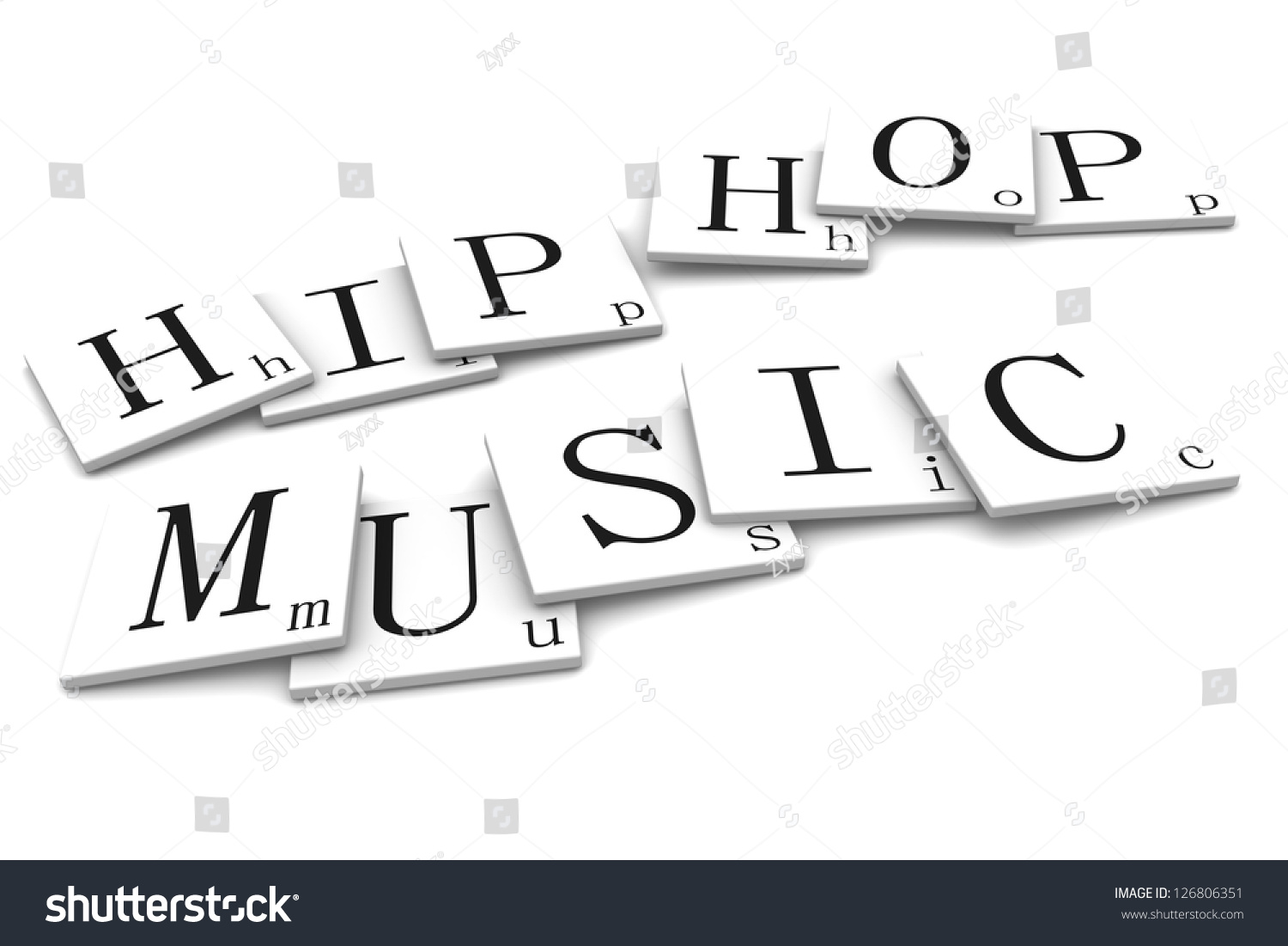 3 D Signs Word Hip Hop Music Stock Illustration 126806351 Shutterstock